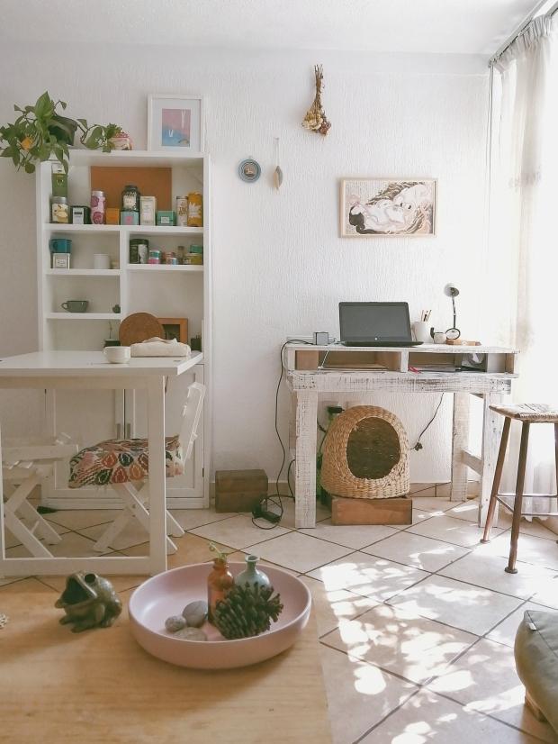 la sala y oficina