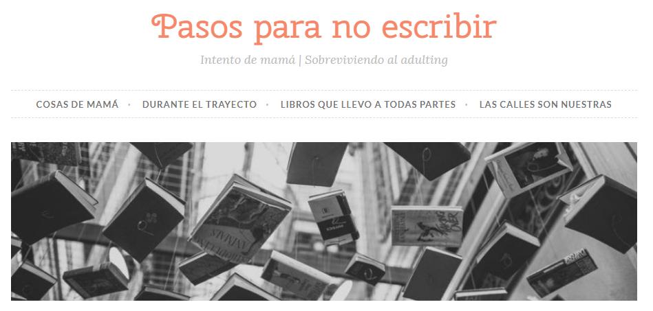 Blog Literario Pasos para no escribir