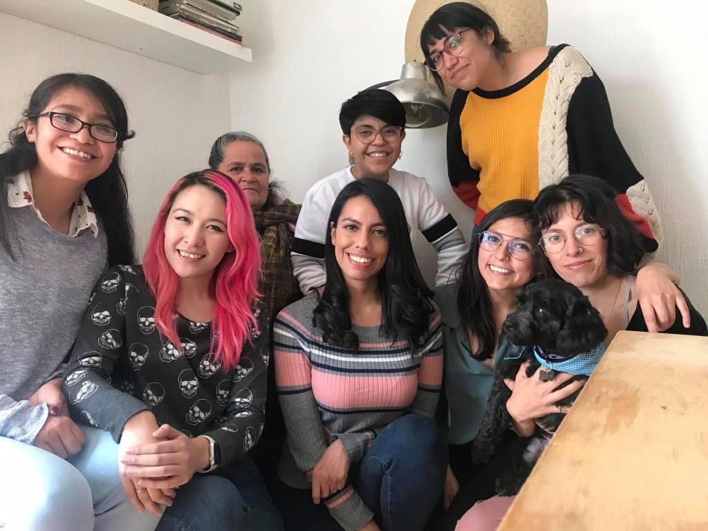 Asistentes del primer taller de blog de Abril Romero en CDMX