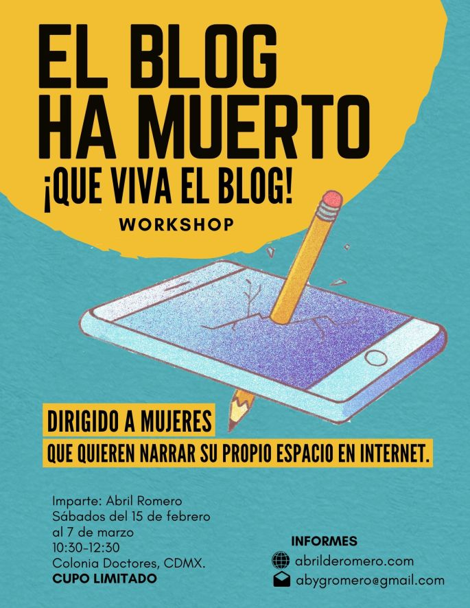 Workshop de blogging de Abril Romero